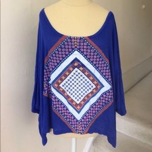 Urban Outfitters Tops - 🌵 UO Daydreamer LA Blue Dolman Sleeve Graphic Top
